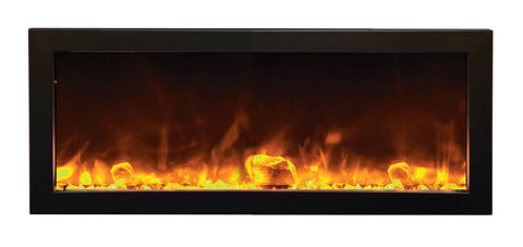 Amantii BI-SLIM Panorama Indoor or Outdoor Wall Mount Electric Fireplace