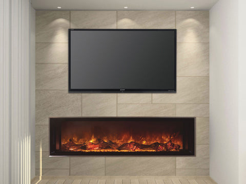 SIMPLY ELECTRIC FIREPLACES ONLINE MODERN FLAMES MFLFV60/15-SH WALL MOUNTED ELECTRIC FIREPLACE