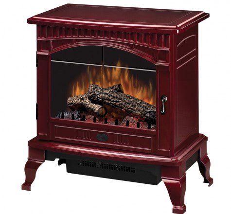 Dimplex Lincoln Cranberry Electric Fireplace Stove with Remote Control- DS5629CR