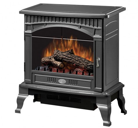 Dimplex Lincoln Gloss Pewter Electric Fireplace Stove with Remote Control - DS5629GP