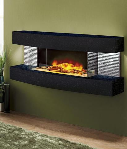 Evolution Fireplaces Texas Curve Modern Electric Fireplace Wall Mount