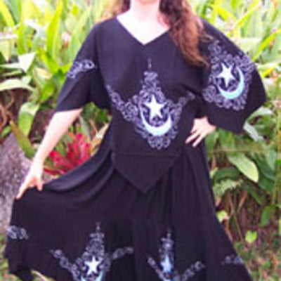 Moon Goddess Long Skirt black
