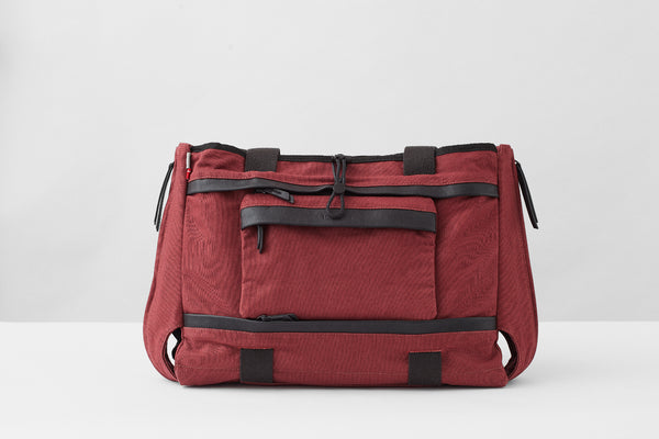 """All in One"" Baby Changing Bag - Burgundy Red"