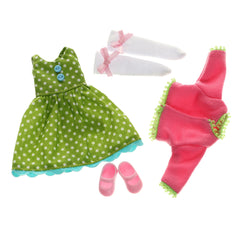 Flower Power Doll Clothes Set