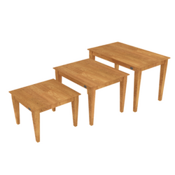 Oak Nesting Table 08 Set
