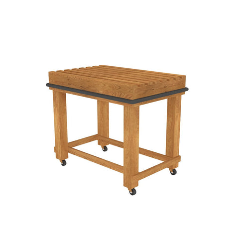 Oak Slat Top Bakery Table
