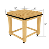Bakery Display Tables and Racks - BAK-893 OAK