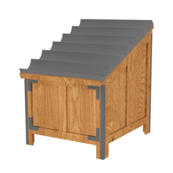 Add versatility to your produce displays with Marco's Modular Bin Banana Display table. This table works nicely with our Modular Orchard Bin series. Bruise Buster padding included to protect product.