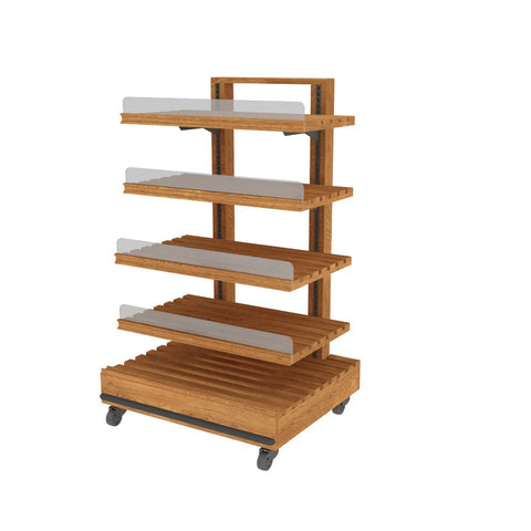 Single-Sided Oak Bread Rack