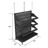 Produce Display Shelving | Retail Display - DRY-SHF LOW04BV