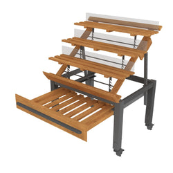 ET-190 3RS Series Oak European Tables with Adjustable Shelves