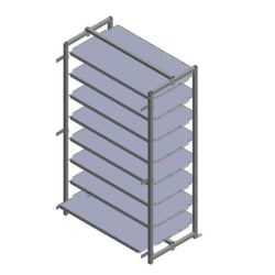 Rack w/ 8 Shelves