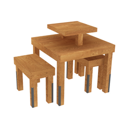 Nesting table set (3 pieces)