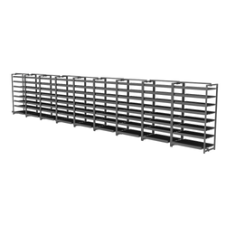 "Assembly Layout Racks 447"" Wide"