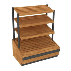 Oak Upright with Lighted Shelves