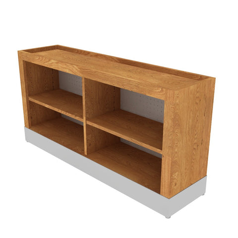 Oak Wood Produce Extenders with Shelves--6 Sizes Available
