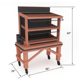 Bakery Display Shelving - M-CART-004