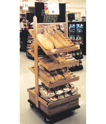Portable Oak Bakery Display