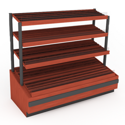 "72"" Four Shelf Bakery Display"