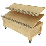 Bakery Display Shelving - BAK-64 OAK SB