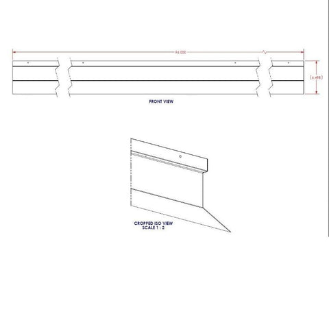 Hill Phoenix O5DM OEM Double Panel 8' Front Panel (Exterior)