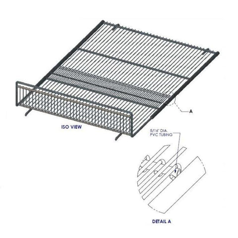 "Kysor DX6LN 5-1/2""X23-5/8""X26-5/8"" Telescoping Wire Rack (Interior)"