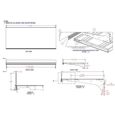 "20"" X 4' OEM Sanyo Shelf Non-lit"