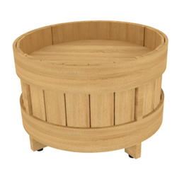 Orchard Bin Riser | Produce Display | The Marco Company- PED-RSR RND 12O