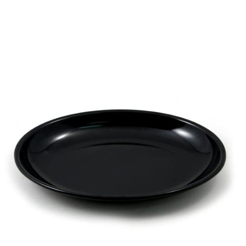"Black Melamine Bowl Platter For Deli Case Displays, 16""x12""x2"""