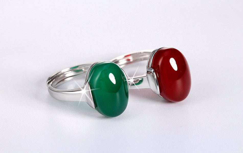 green products stone big ring resin black size rings unisex jewelry red ajojewel fashion