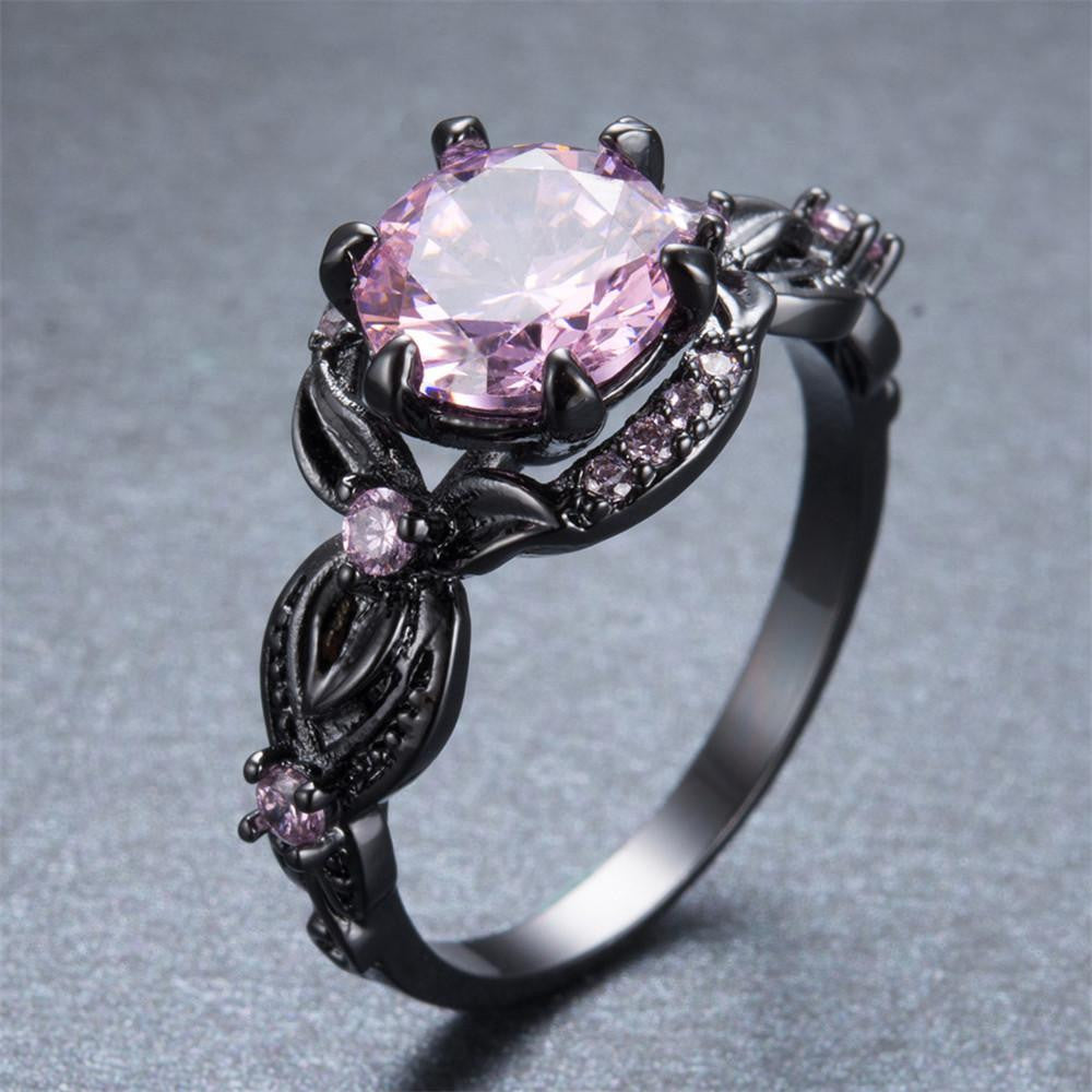 pink stone rings bow stand studded ring s claire