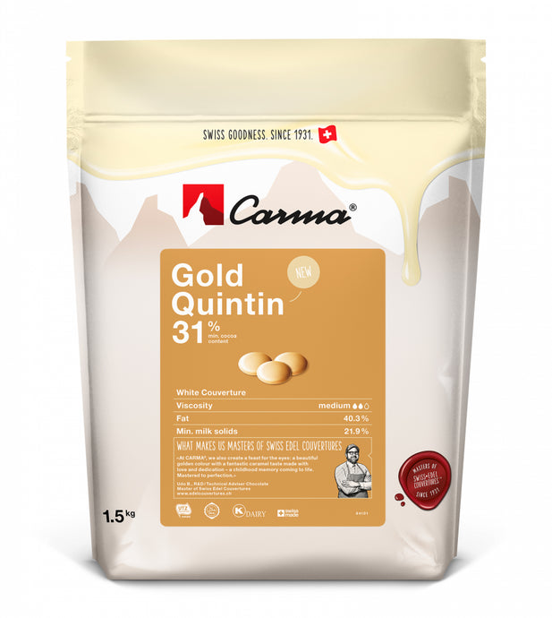 Carma® Swiss Gold Quintin 31% White Chocolate (1.5kg)