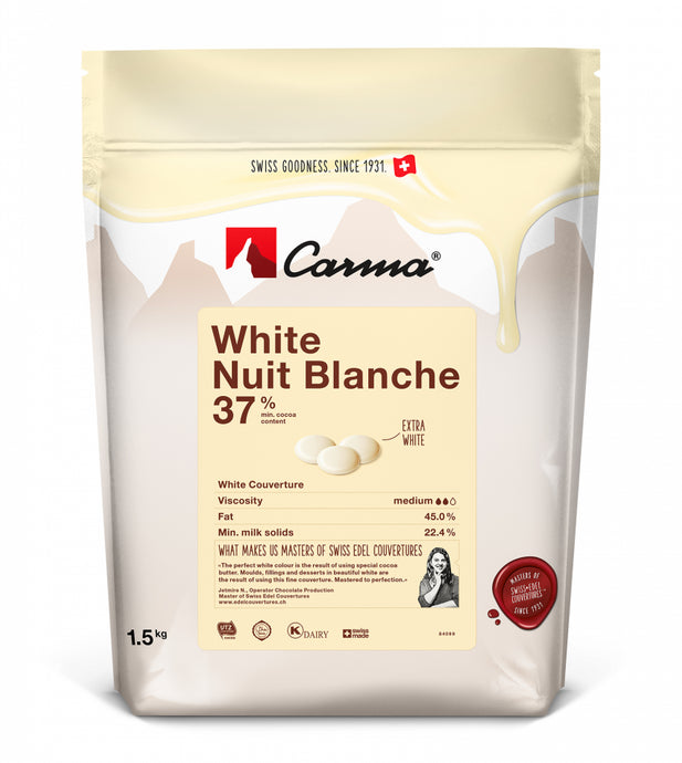 Carma® White Nuit Blanche 37% White Chocolate (1.5kg)