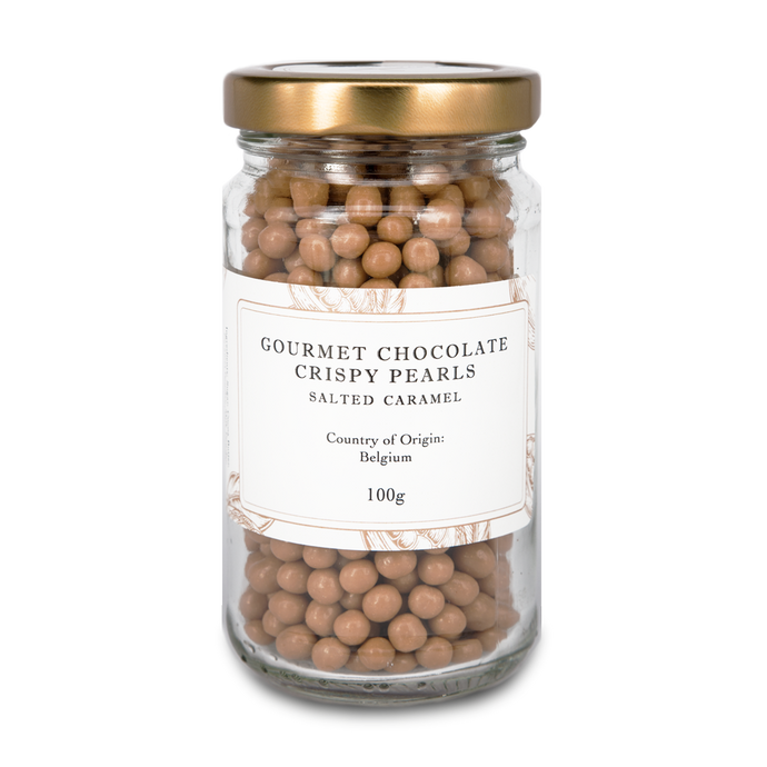 Gourmet Chocolate Crispy Pearls - Salted Caramel