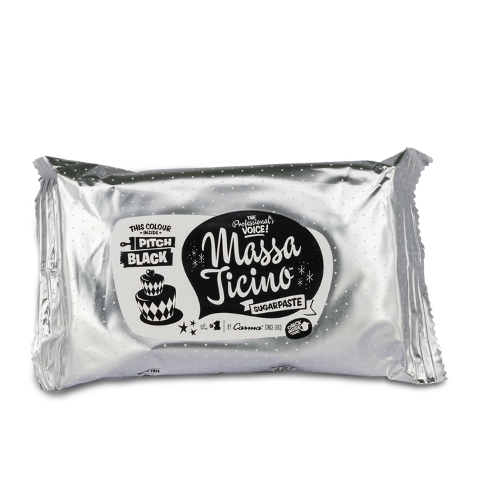 Massa Ticino™ Sugarpaste 250g - Pitch Black