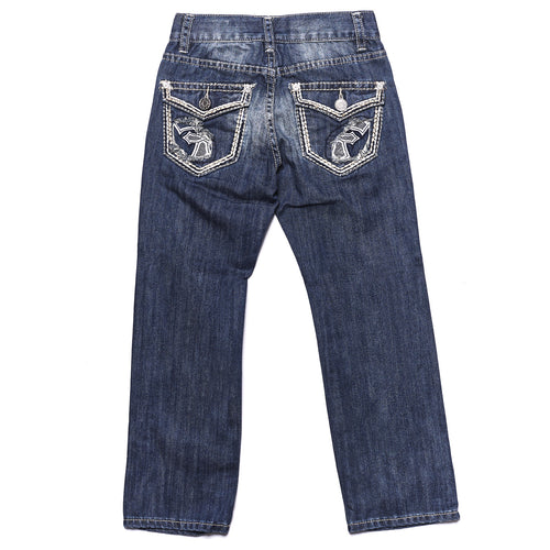 Tokyo Five Boy's Straight Leg Fashion Denim with Flap Back Pockets