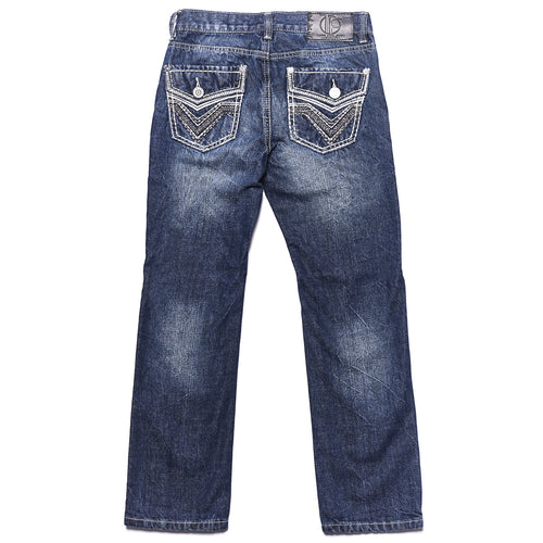 Tokyo Five Boy's Straight Leg Fashion Denim Medium Wash
