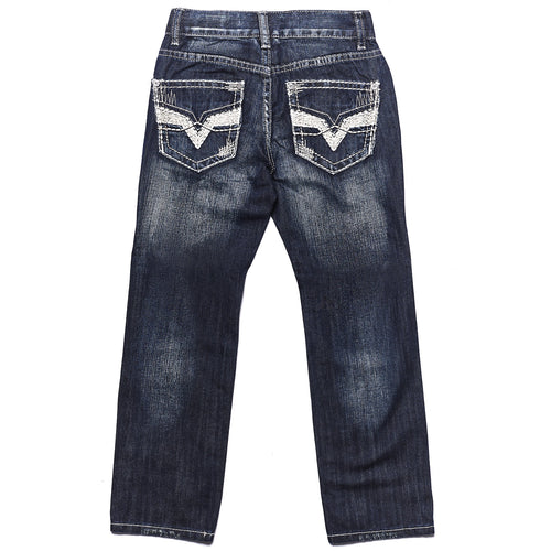Tokyo Five Boy's Straight Leg Fashion Denim Dark Wash