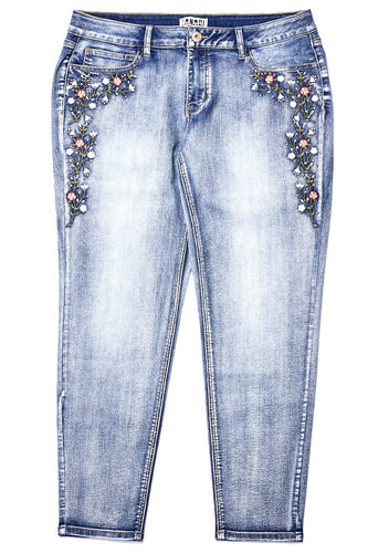 Mayson Wash Embroidered Jean W Studs