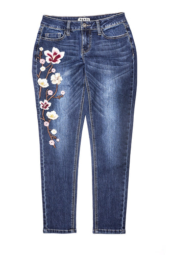 Diamond Wash Embroidered Jean
