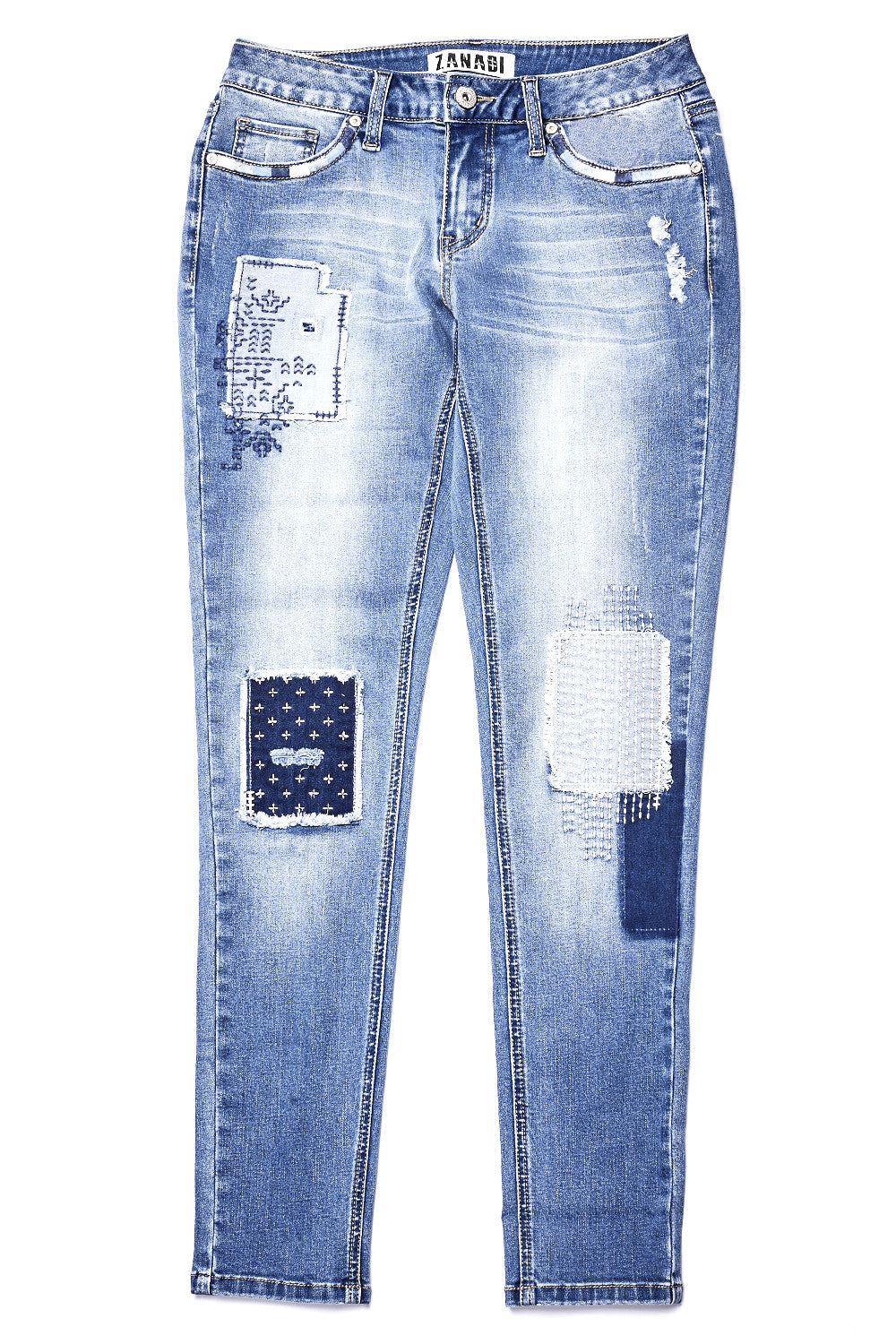 McLin Wash Patched & Repaired Jean