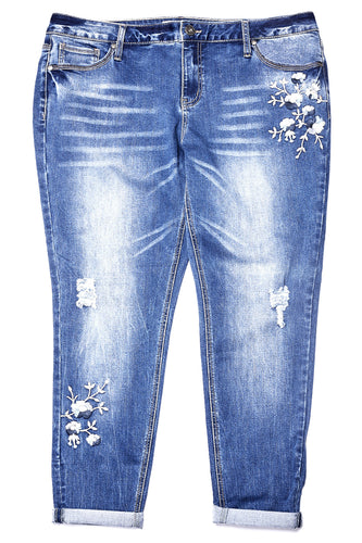 Bailey Wash Embroidered Jean