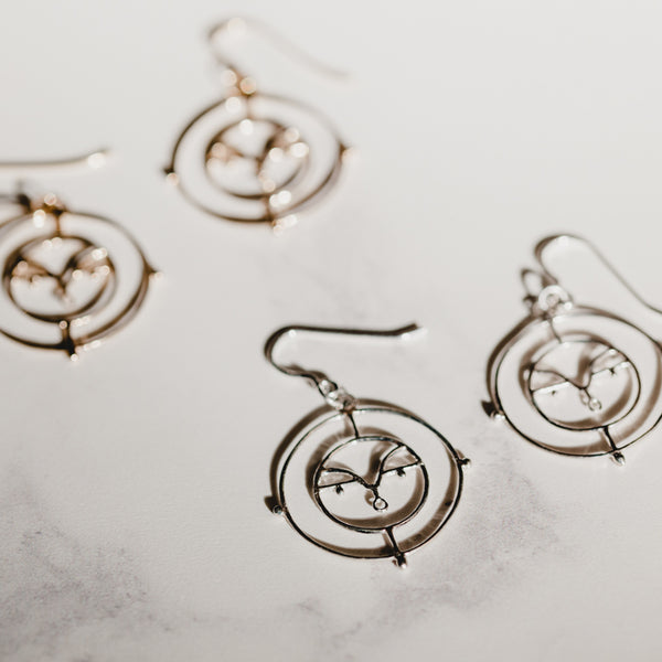 Face Earrings Silver