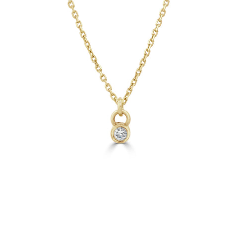 Tiny diamond necklace gold