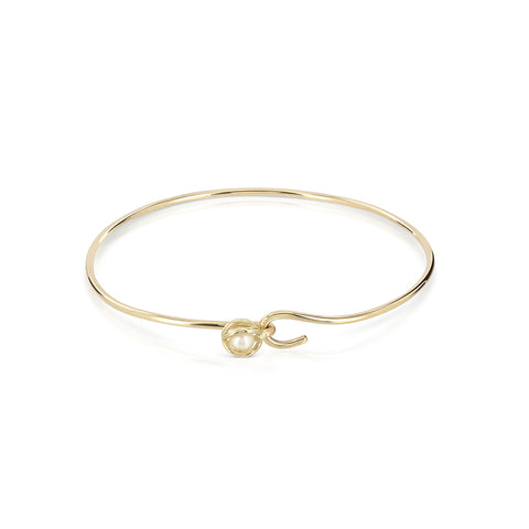 Caged pearl bangle