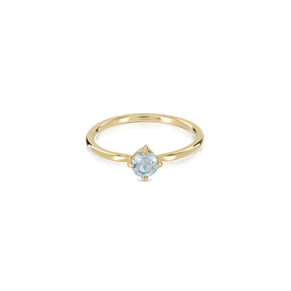 Princess Aquamarine ring gold