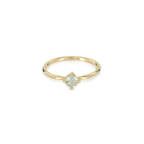 Princess green ring gold