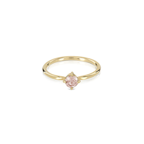 Princess morganite ring gold