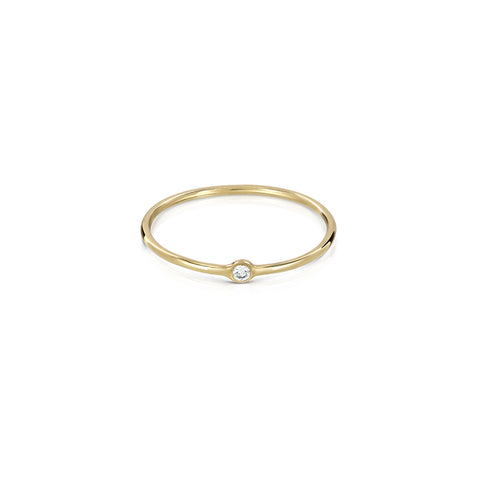 Tiny dot ring - diamond