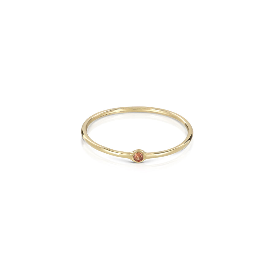 Tiny dot ring - gemstone